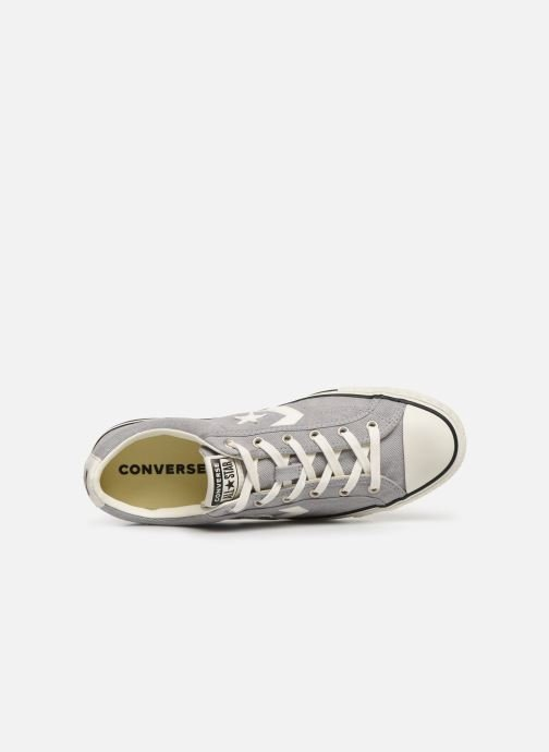 Trainers Converse Star Player Vitnage Canvas Ox Grey view from the left