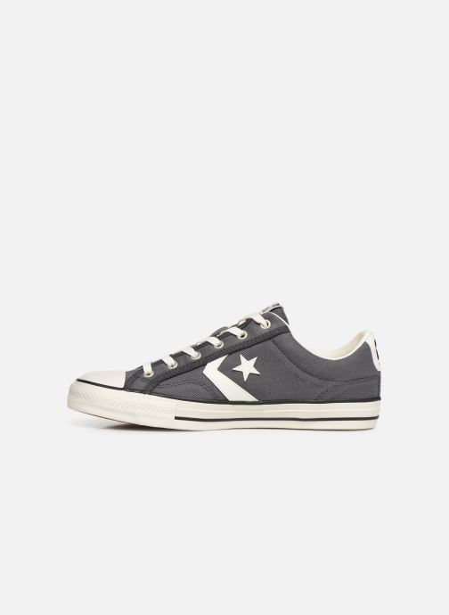 Baskets Converse Star Player Vintage Canvas Ox Gris vue face