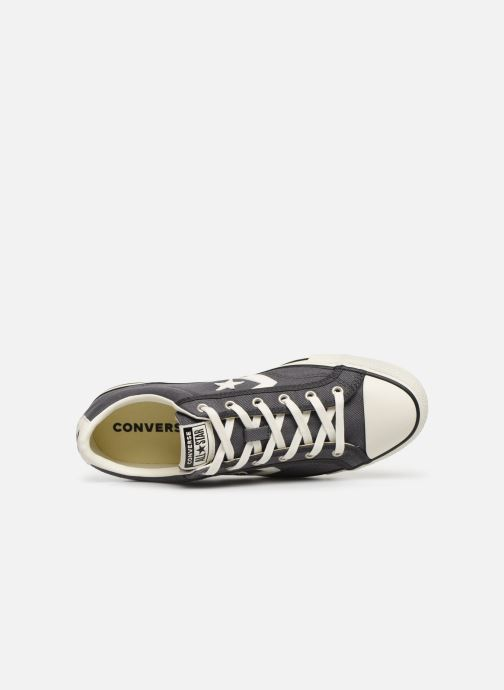 Baskets Converse Star Player Vintage Canvas Ox Gris vue gauche