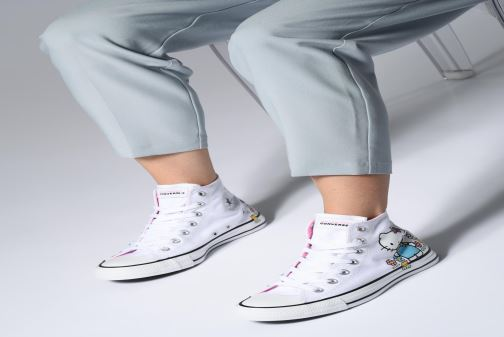Trainers Converse Chuck Taylor All Star Hello Kitty  Hi White view from underneath / model view