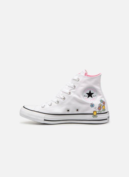 Deportivas Converse Chuck Taylor All Star Hello Kitty  Hi Blanco vista de frente