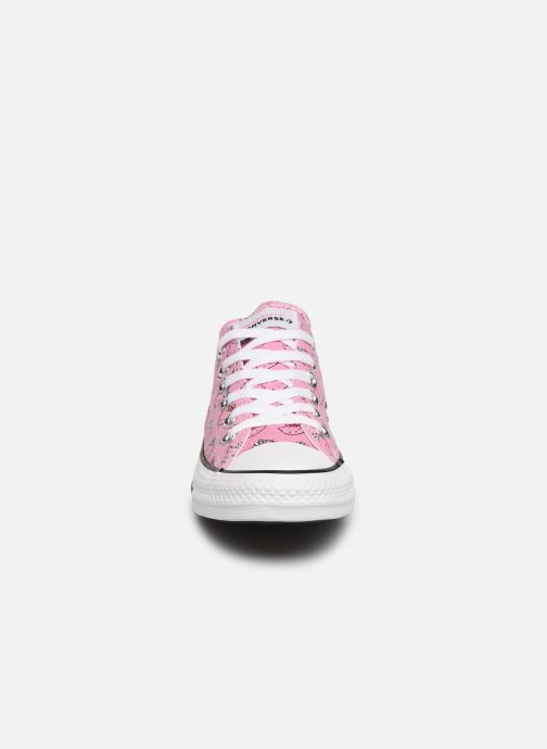 Baskets Converse Chuck Taylor All Star Hello Kitty  Ox Rose vue portées chaussures