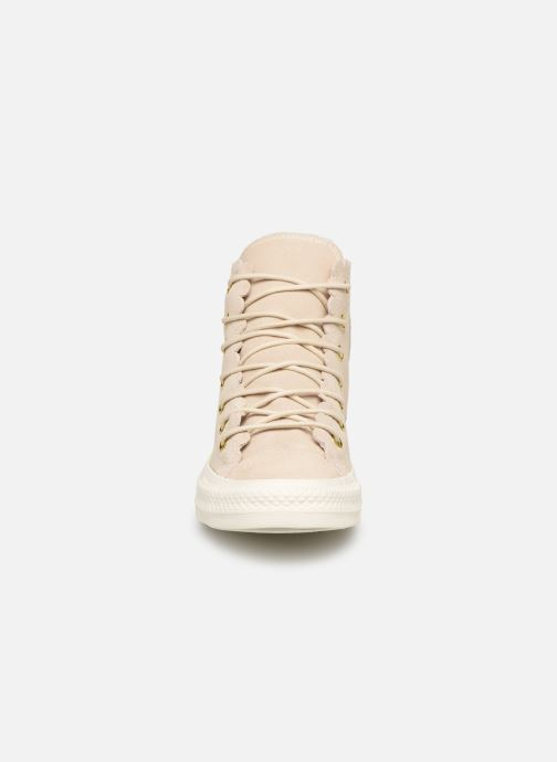Trainers Converse Chuck Taylor All Star Frilly Thrills Hi Beige model view