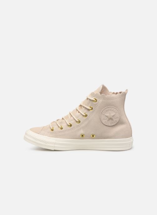 Trainers Converse Chuck Taylor All Star Frilly Thrills Hi Beige front view