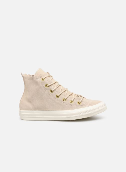 Trainers Converse Chuck Taylor All Star Frilly Thrills Hi Beige back view