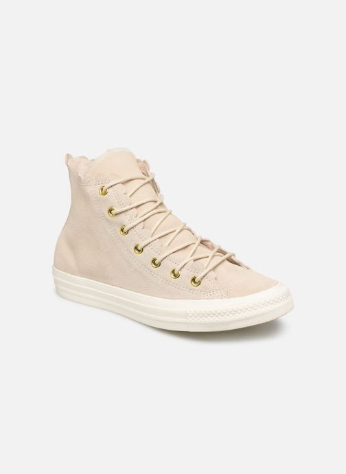 Trainers Converse Chuck Taylor All Star Frilly Thrills Hi Beige detailed view/ Pair view
