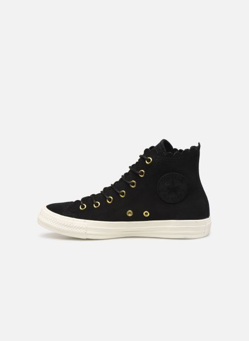 Sneakers Converse Chuck Taylor All Star Frilly Thrills Hi Zwart voorkant