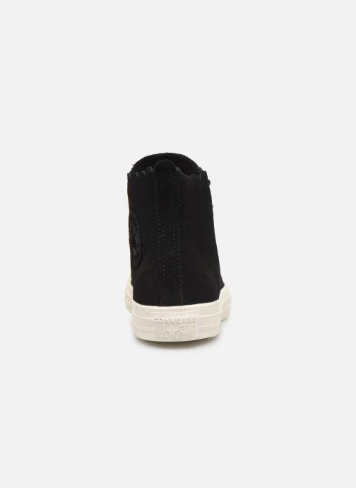 Sneakers Converse Chuck Taylor All Star Frilly Thrills Hi Zwart rechts
