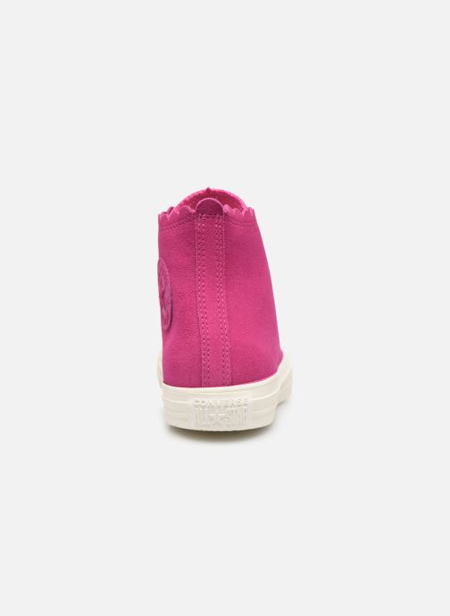 Baskets Converse Chuck Taylor All Star Frilly Thrills Hi Rose vue droite