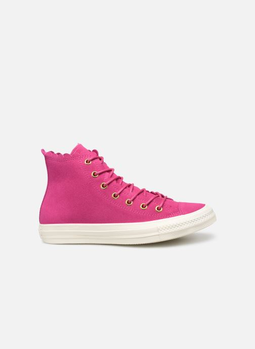 Trainers Converse Chuck Taylor All Star Frilly Thrills Hi Pink back view