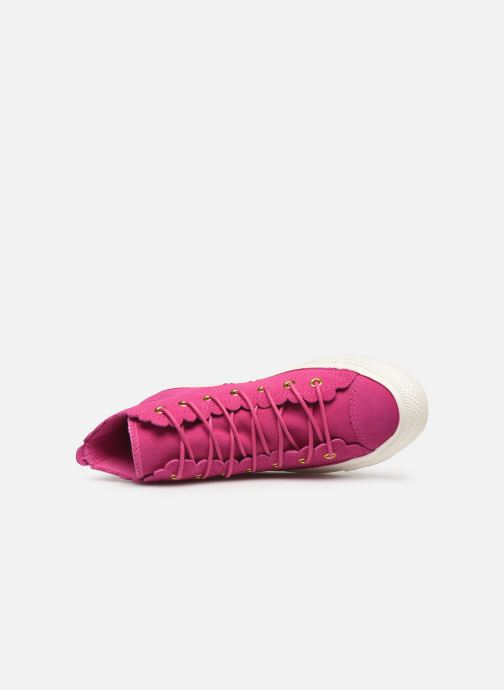 Trainers Converse Chuck Taylor All Star Frilly Thrills Hi Pink view from the left
