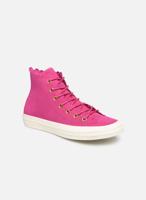 Trainers Converse Chuck Taylor All Star Frilly Thrills Hi Pink detailed view/ Pair view