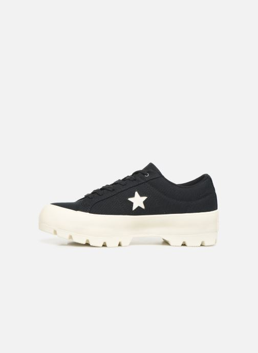 Sneakers Converse One Star Lugged Court Stopper Ox Zwart voorkant