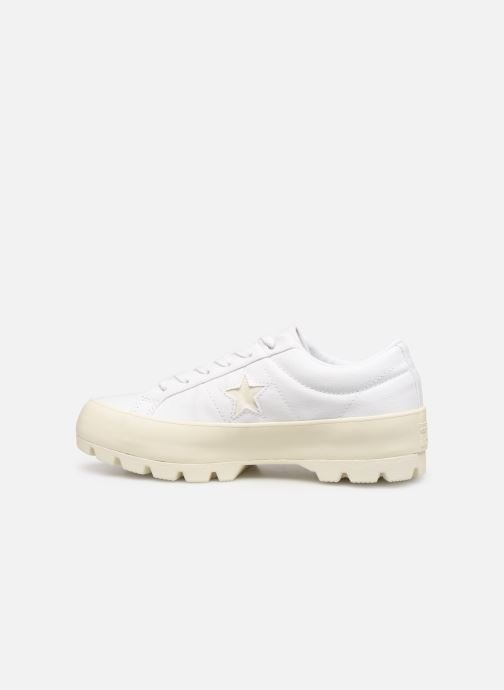 Trainers Converse One Star Lugged Court Stopper Ox White front view