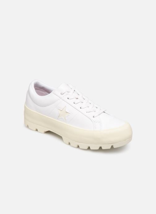 Baskets Converse One Star Lugged Court Stopper Ox Blanc vue détail/paire