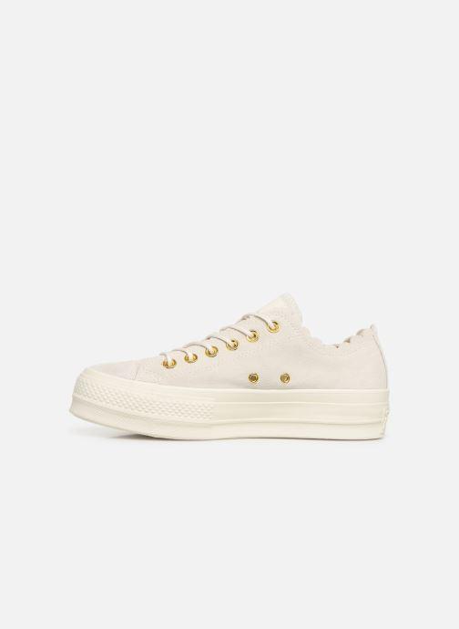 Sneaker Converse Chuck Taylor All Star Lift Frilly Thrills Ox grau ansicht von vorne