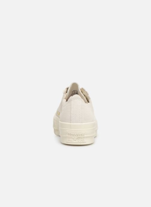Trainers Converse Chuck Taylor All Star Lift Frilly Thrills Ox Grey view from the right