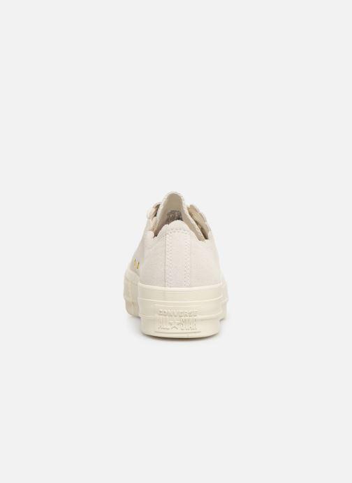 Sneaker Converse Chuck Taylor All Star Lift Frilly Thrills Ox grau ansicht von rechts