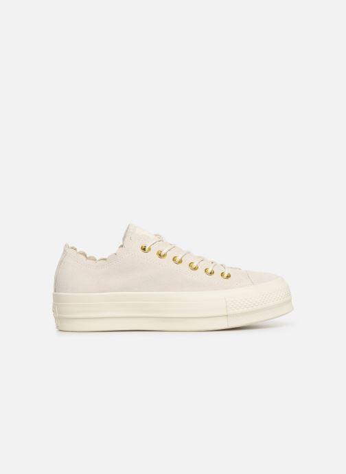 Sneaker Converse Chuck Taylor All Star Lift Frilly Thrills Ox grau ansicht von hinten