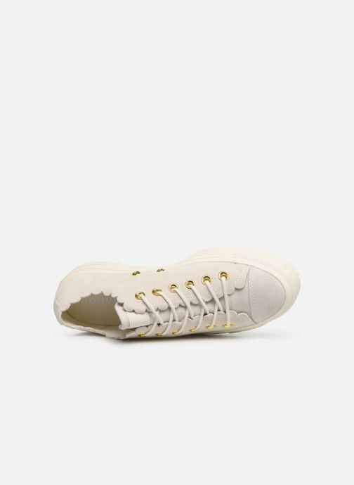 Sneaker Converse Chuck Taylor All Star Lift Frilly Thrills Ox grau ansicht von links