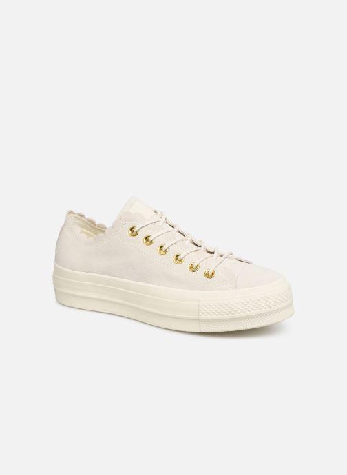 Sneaker Converse Chuck Taylor All Star Lift Frilly Thrills Ox grau detaillierte ansicht/modell