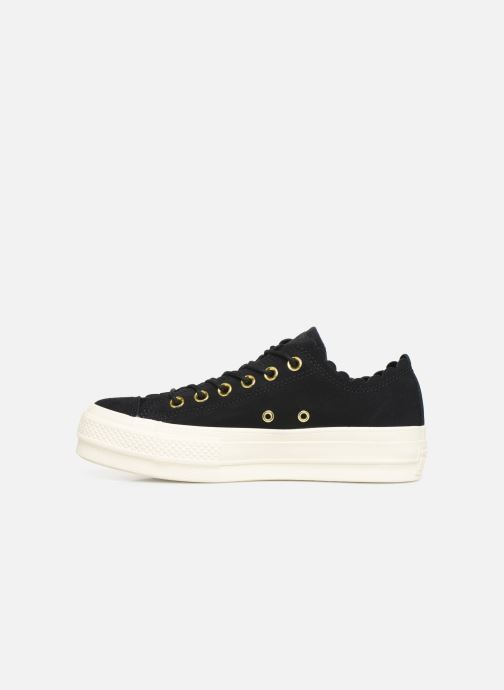 Sneaker Converse Chuck Taylor All Star Lift Frilly Thrills Ox schwarz ansicht von vorne