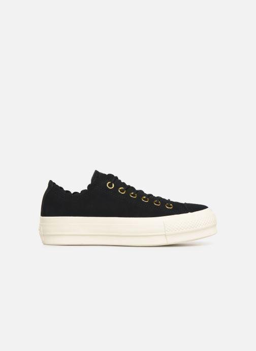 Sneaker Converse Chuck Taylor All Star Lift Frilly Thrills Ox schwarz ansicht von hinten
