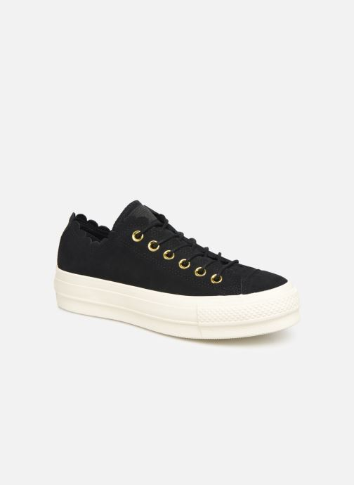 Sneakers Converse Chuck Taylor All Star Lift Frilly Thrills Ox Zwart detail