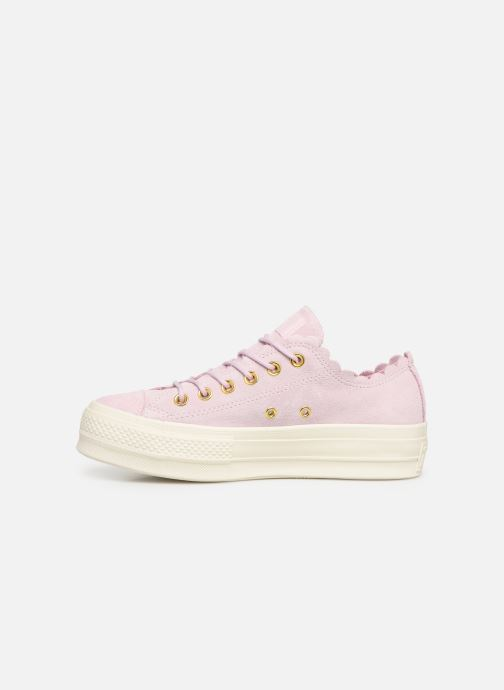 Sneakers Converse Chuck Taylor All Star Lift Frilly Thrills Ox Roze voorkant
