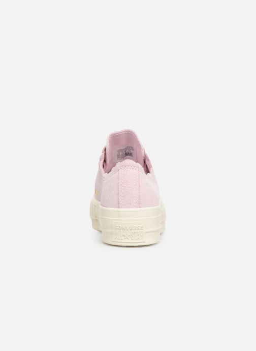 Baskets Converse Chuck Taylor All Star Lift Frilly Thrills Ox Rose vue droite