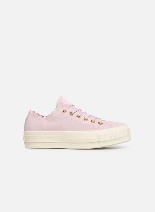 Sneakers Converse Chuck Taylor All Star Lift Frilly Thrills Ox Roze achterkant