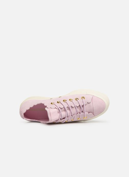 Trainers Converse Chuck Taylor All Star Lift Frilly Thrills Ox Pink view from the left