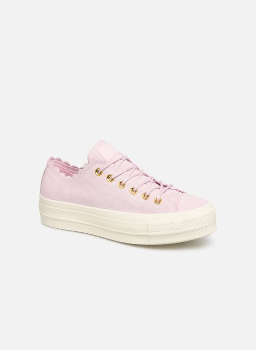 Trainers Converse Chuck Taylor All Star Lift Frilly Thrills Ox Pink detailed view/ Pair view