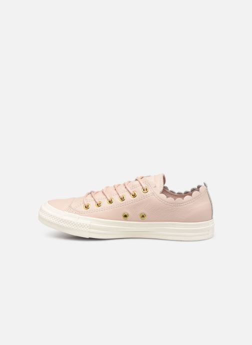 Trainers Converse Chuck Taylor All Star Frilly Thrills LTH Ox Beige front view