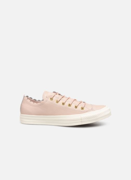 Baskets Converse Chuck Taylor All Star Frilly Thrills LTH Ox Beige vue derrière