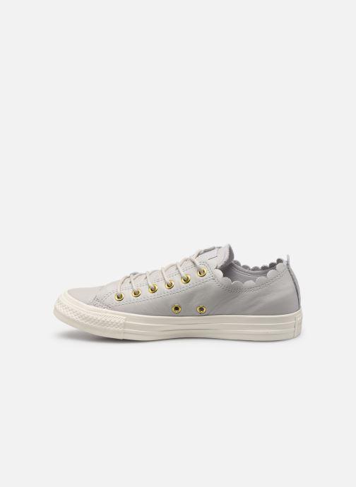 Sneaker Converse Chuck Taylor All Star Frilly Thrills LTH Ox grau ansicht von vorne