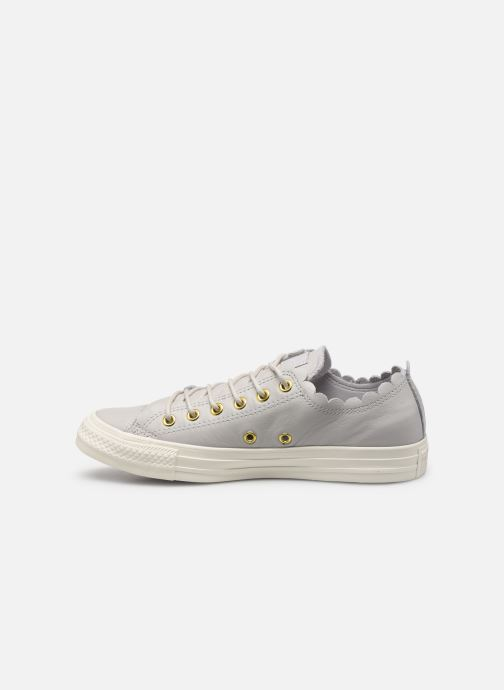 Baskets Converse Chuck Taylor All Star Frilly Thrills LTH Ox Gris vue face