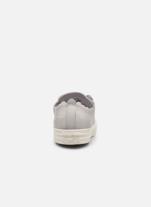 Baskets Converse Chuck Taylor All Star Frilly Thrills LTH Ox Gris vue droite