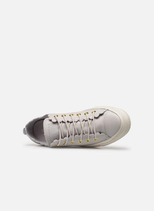Sneaker Converse Chuck Taylor All Star Frilly Thrills LTH Ox grau ansicht von links