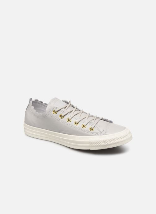 Baskets Converse Chuck Taylor All Star Frilly Thrills LTH Ox Gris vue détail/paire