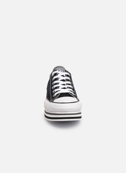 Sneaker Converse Chuck Taylor All Star Platform Layer EVA Layers Ox schwarz schuhe getragen