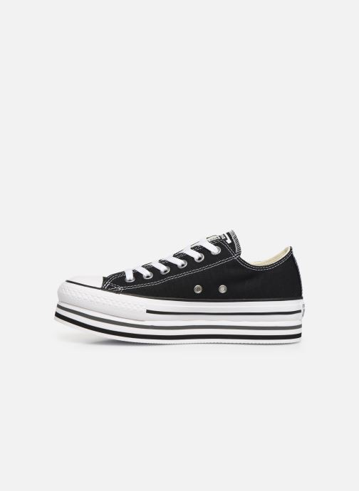Sneakers Converse Chuck Taylor All Star Platform Layer EVA Layers Ox Zwart voorkant