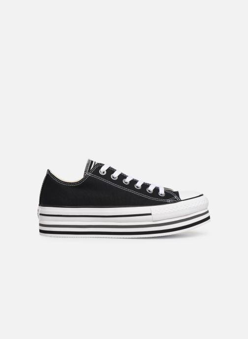 Sneaker Converse Chuck Taylor All Star Platform Layer EVA Layers Ox schwarz ansicht von hinten
