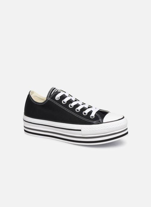 Sneaker Converse Chuck Taylor All Star Platform Layer EVA Layers Ox schwarz detaillierte ansicht/modell
