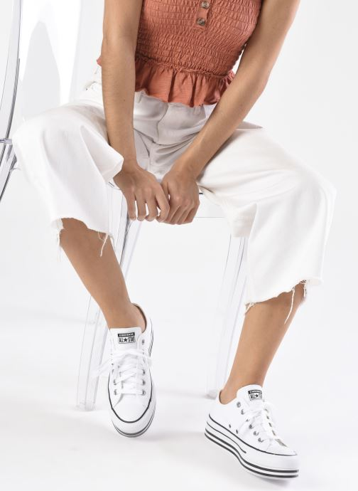 Sneakers Converse Chuck Taylor All Star Platform Layer EVA Layers Ox Bianco immagine dal basso