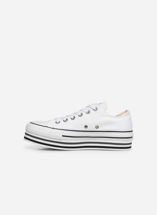 Baskets Converse Chuck Taylor All Star Platform Layer EVA Layers Ox Blanc vue face
