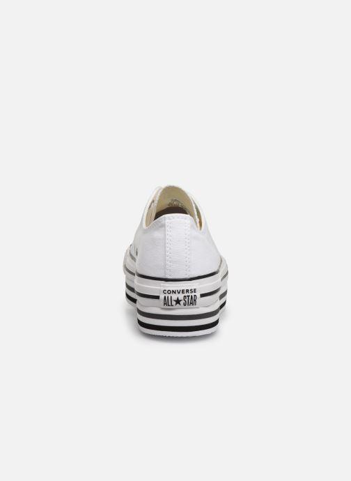 Sneakers Converse Chuck Taylor All Star Platform Layer EVA Layers Ox Bianco immagine destra