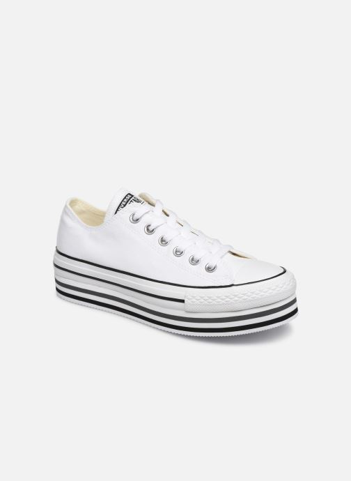 Baskets Converse Chuck Taylor All Star Platform Layer EVA Layers Ox Blanc vue détail/paire
