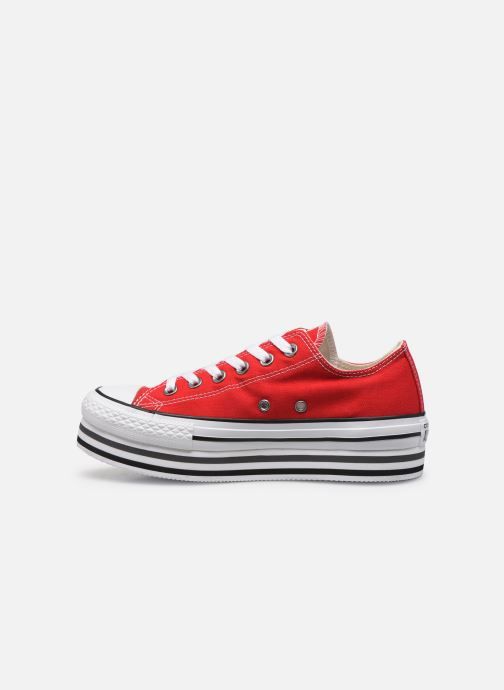 Baskets Converse Chuck Taylor All Star Platform Layer EVA Layers Ox Rouge vue face