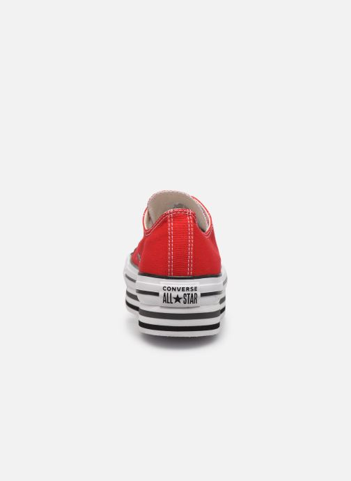 Sneakers Converse Chuck Taylor All Star Platform Layer EVA Layers Ox Rood rechts